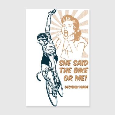 I'm off ... cycling - Poster 8 x 12