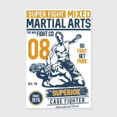 SUPER FIGHT SPORT - Martial Arts Gifts Shirts - Poster 8 x 12