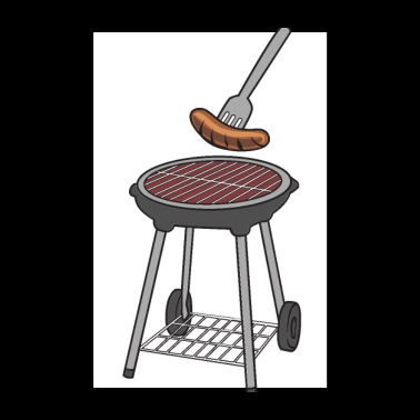 Griller - Grillmeister Barbecue Barbecue Grill saucisses - Poster 20 x 30 cm