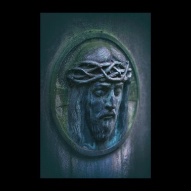 Jesus portrait on tombstone - Poster 8 x 12