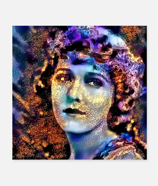 1920s Posters - The Girl with the Curls - Posters white