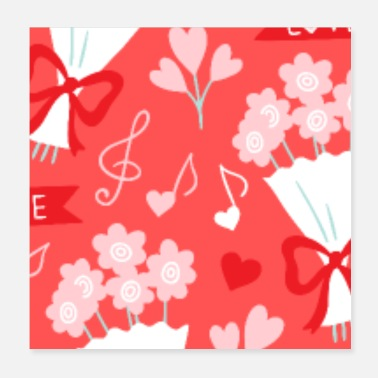 Valentines Day Valentines Day Heart #4 - Cupcakes and Love - Poster