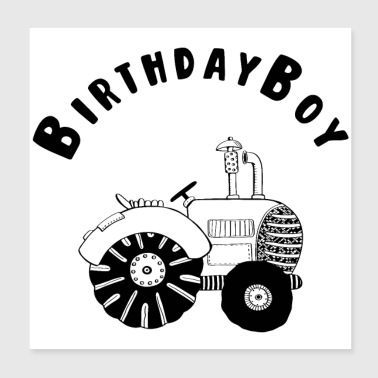 Birthday Boy - Birthday - Celebration - Fest - Event - Poster 20x20 cm