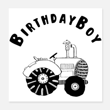 Celebrate Birthday Boy - Birthday - Celebration - Fest - Event - Poster 20x20 cm