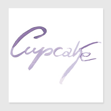 Cupcake lettering in purple - Poster 20x20 cm