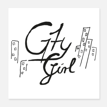 Scripture Scripture City Girl (Vector Art) - Poster
