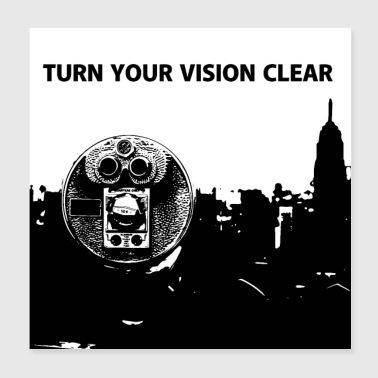 TURN YOUR VISION CLEAR - Poster 20x20 cm