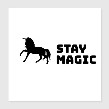 Stay Magic Unicorn - Poster 20x20 cm