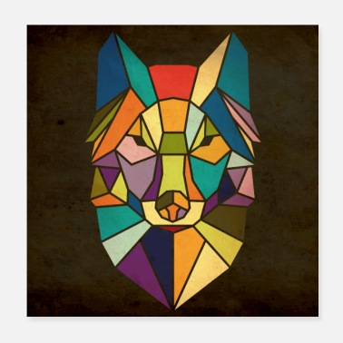 Awesome renard - Poster 20 x 20 cm