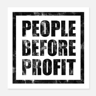 Anonymous People Before Profit Poster Antikapitalimus (hel) - Poster 20x20 cm