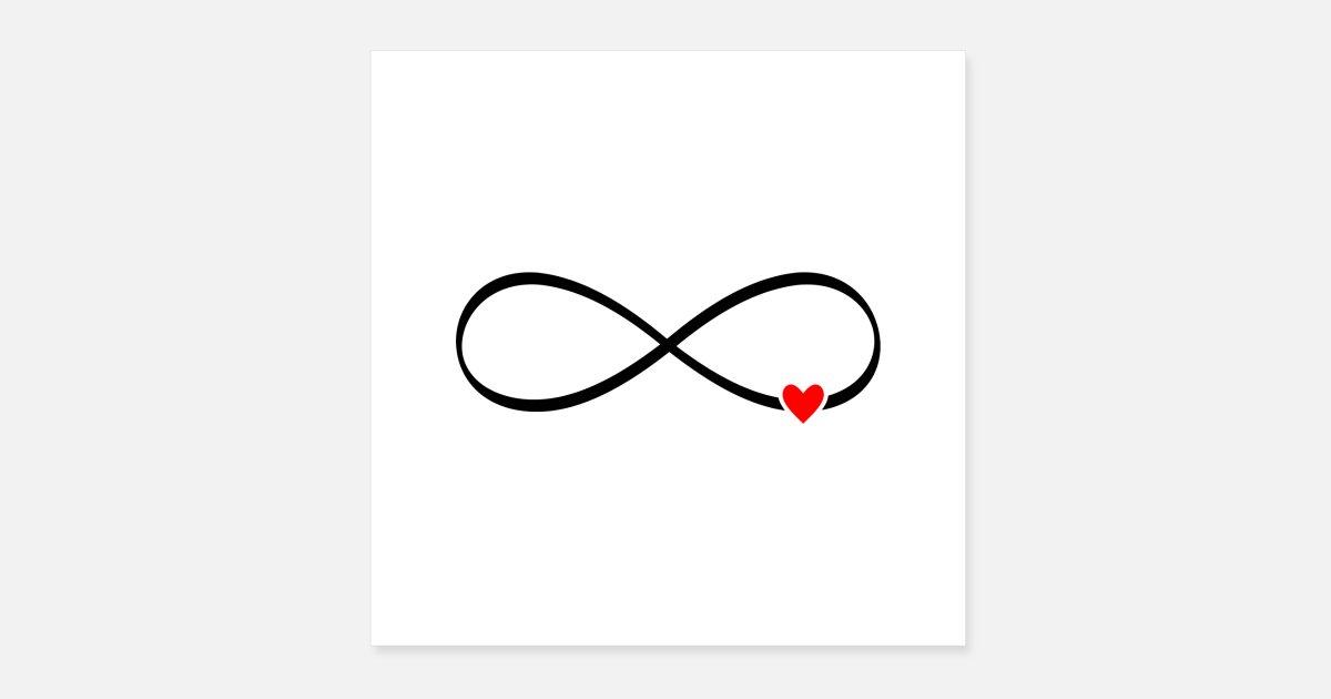 unendliche Liebe - Unendlichkeitszeichen Herz Poster