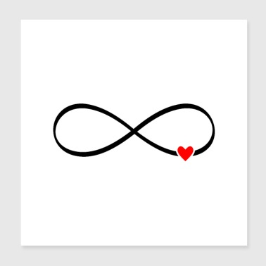 Mariage amour infini - coeur signe infini - Poster 20 x 20 cm