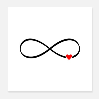 Mariage amour infini - coeur signe infini - Poster