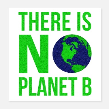 Planet Earth There Is No Planet B - Earth Day - Poster 20x20 cm