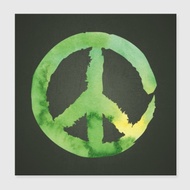 Peace Green Poster Square - Poster 20x20 cm