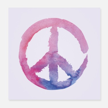 Demo Peace Purple poster square - Poster