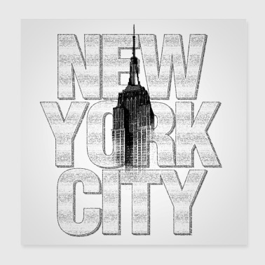 New York Empire State Building Poster Square - Poster 20x20 cm