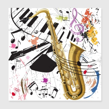Sax in the City - Poster - Poster 20x20 cm