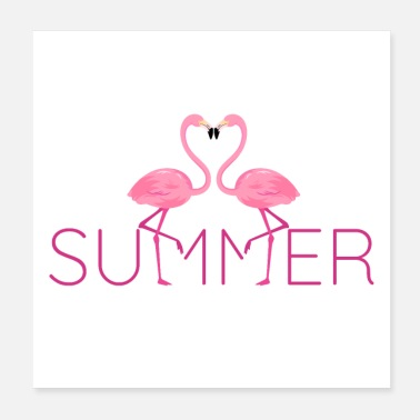 Tier Summer Flamingo 80s Design - Poster