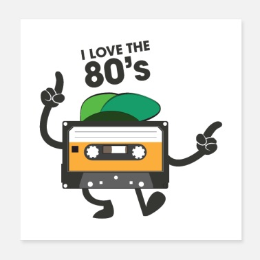 I Love Retro I Love The 80's - Dancing Cassette - Poster