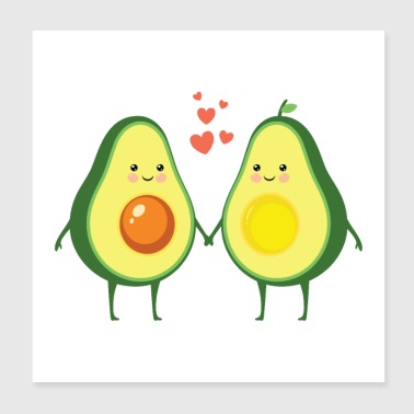 Couple d'amour d'avocat - Poster 20 x 20 cm
