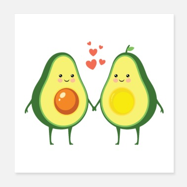 Couple Couple d'amour d'avocat - Poster 20 x 20 cm