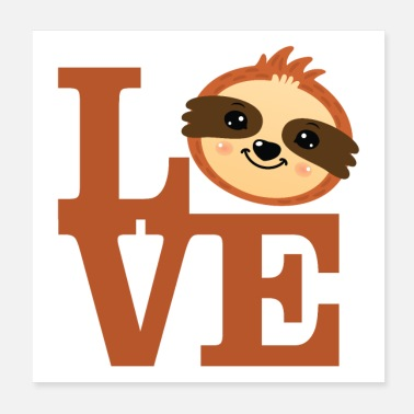 Love Love Sloths - Juliste