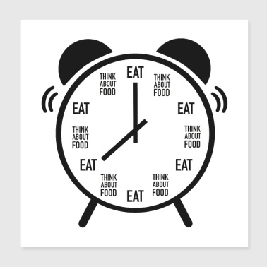 Meal Eat O'Clock - Poster 20x20 cm