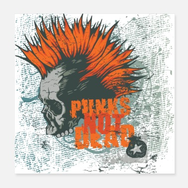 Cupid Punks not dead Punker fancy gift fun - Poster 20x20 cm