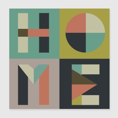 home - Poster 20x20 cm