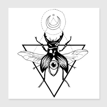 Stag Beetle - Poster 20x20 cm