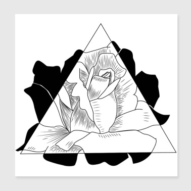 Triangle Rose - Poster 20 x 20 cm