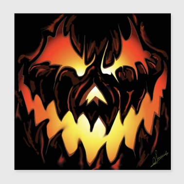 Tomba poster di Halloween - Poster 20x20 cm