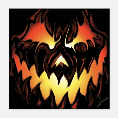 Poste halloween Poster - Poster 20 x 20 cm