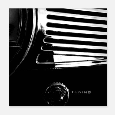 Bikes And Cars Collection Tuning - Poster 20x20 cm