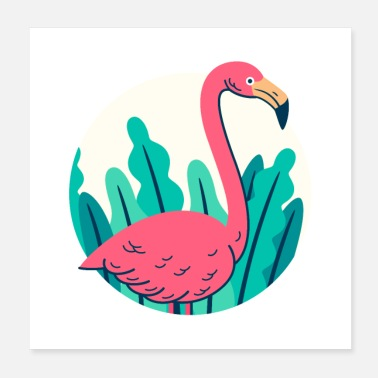 Animal Collection Projekt retro flamingo - Plakat o wymiarach