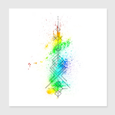 Arrow Geometric Colorful - Poster 20x20 cm