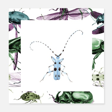 Animaux Insecte bleu - Poster