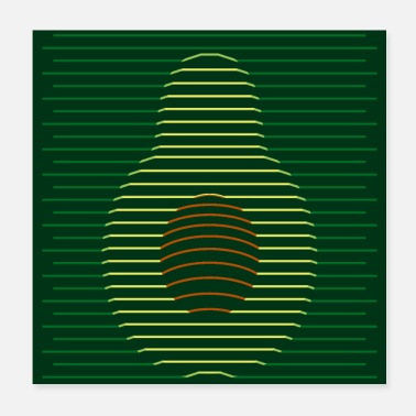 Style Avocado Vector Style - Poster 20x20 cm
