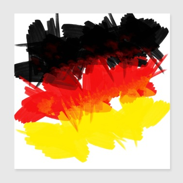 Germany Germany flag jersey soccer grunge flag - Poster 20x20 cm