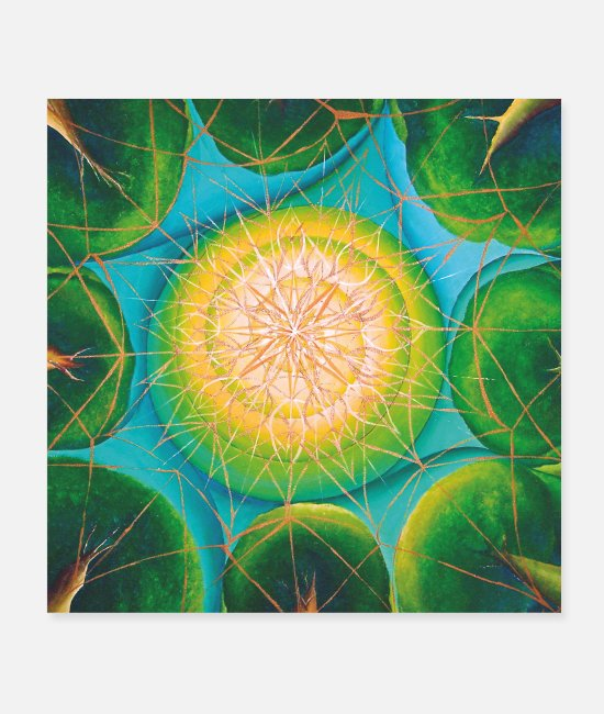 "Eco Postere - SoulArt Mandala ""Nature Bonding"" - Postere hvit"