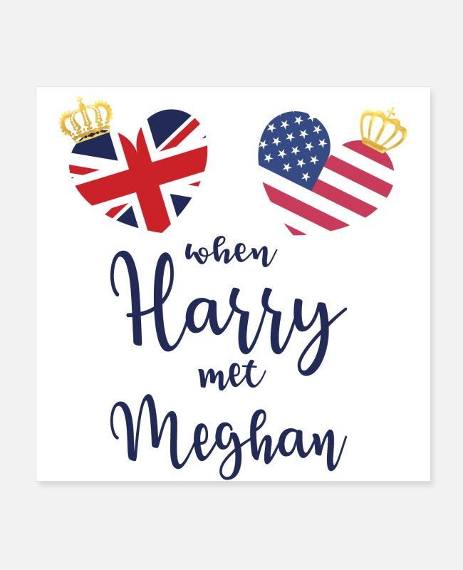 Engagement Posters - Royal Wedding Crown - Posters white