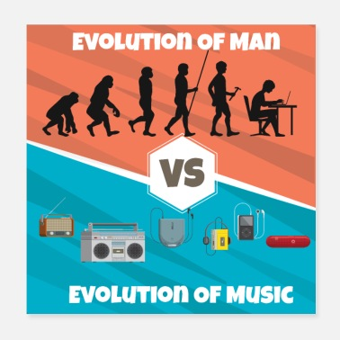 Instrument Evolution de la musique Rap HipHop Techno Trance House - Poster
