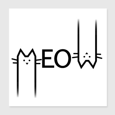 Meow cat - Poster 20x20 cm