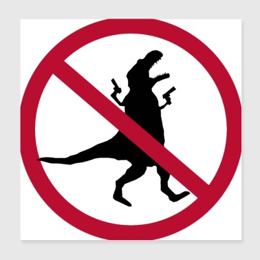 Interdiction de pillage #dinosaurus - Poster 20 x 20 cm