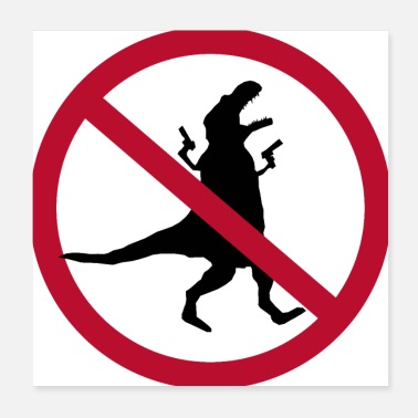 Interdiction Interdiction de pillage #dinosaurus - Poster