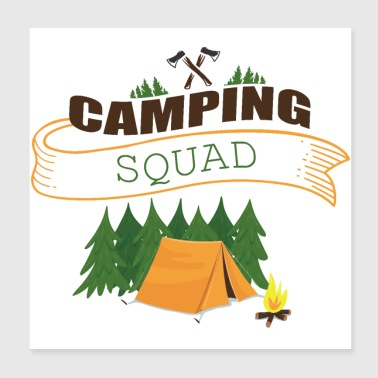 CAMPING SQUAD Équipe Camping - Poster 20 x 20 cm