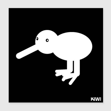 Kiwi Abstract Gift Gift Idea Animals - Poster 20x20 cm