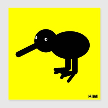 Kiwi Abstract Animals Gift Gift Idea - Poster 20x20 cm