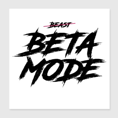 BETA MODE - Poster 20x20 cm